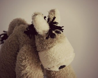 OTIE is a HANDSEWN plush donkey :)