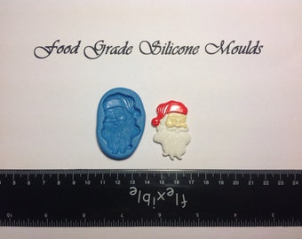 Large Santa Food Safe Super Flexible Silicone Mould / Mold