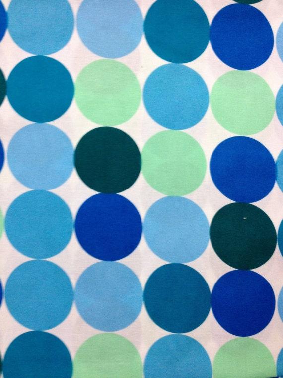 Fat Quarter Aqua Disco Dot Fabric by Michael Miller