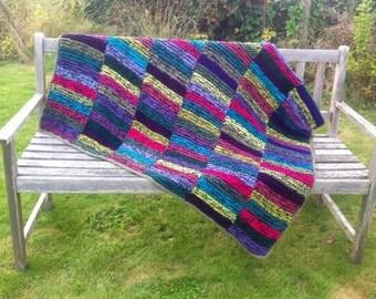 Hand Knit Blanket Etsy