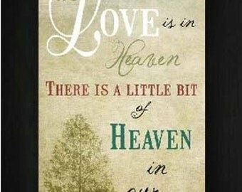 """Because Someone's In Heaven Art Framed Picture 16x28"""""""
