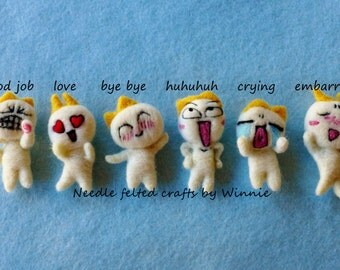 Needle felted Emotion magnets( Each sold individually)
