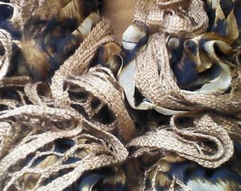 Animal Print Convertible Infinity Ruffle Scarf