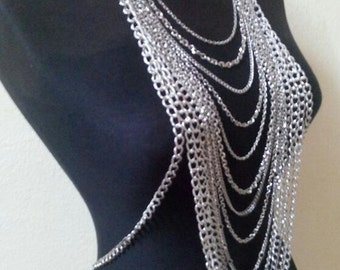 Silver Body Chain, Necklace