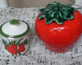 Cute and Colorful Ceramic Strawberry Set!