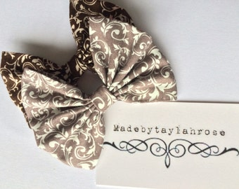 Brown and Cafe Victorian Bow