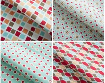 Scandinavian Vivid Red Simple Style Panel (4 Designs Package)