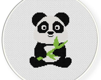 Baby Panda PDF Cross Stitch Pattern - Instant Download - Modern Chart