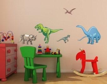 Dinosaur Set wall decals, stickers, murals, vinyl wall art