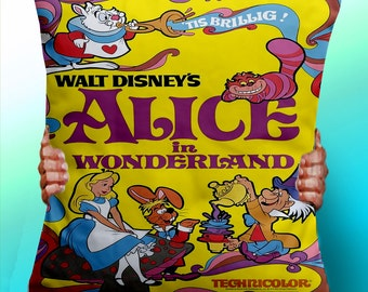 Alice In Wonderland Vintage Poster  - Cushion / Pillow Cover / Panel / Fabric