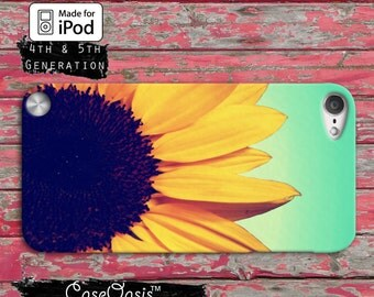 Sunflower Flower Yellow Cute Ombre Cool Tumblr Inspired Case iPod Touch 4th Generation or iPod Touch 5th Generation or iPod Touch 6th Gen
