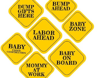 INSTANT DOWNLOAD Baby Shower Construction Theme 8X8 Printable Signs