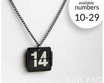 necklace made from an old flip clock (Number 10-29) jewelery
