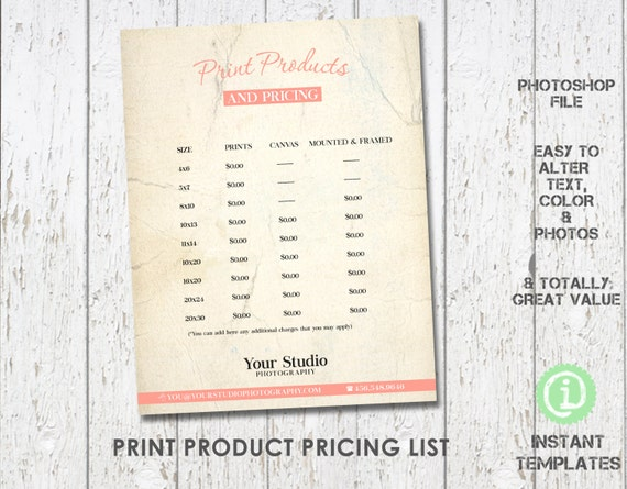 Products Price List Template  BesikEightyCo