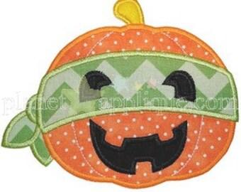 Fall/Halloween Pumpkin Ninja Onesie/Tshirt