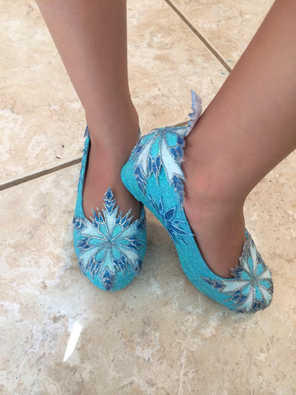 children s elsa wedge shoes inspired from disney frozen
