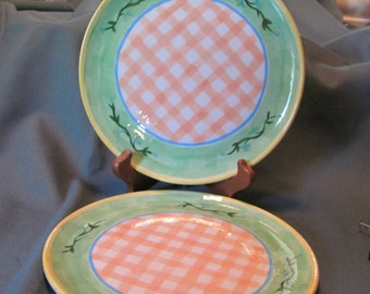 Decorative Summer Sandwich Plates Set of 2 by JoAnn Cameron