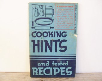 Crisco Shortening Recipe Advertising Booklet Cooking Hints Tested Recipes Vintage Cook Book Proctor Gamble 1937