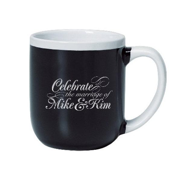 72 Coffee Mugs Personalized Wedding Favors, Custom Coffee Cups, Price ...