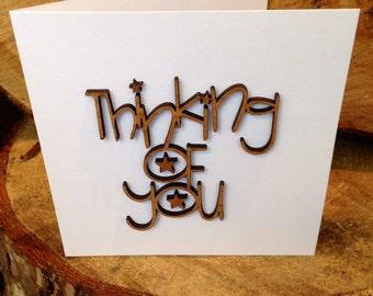Personalised Wooden Greetings Card