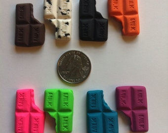 Turquoise Chocolate Bar Clay Cabochon