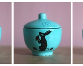 Illustrated little sugar bowl
