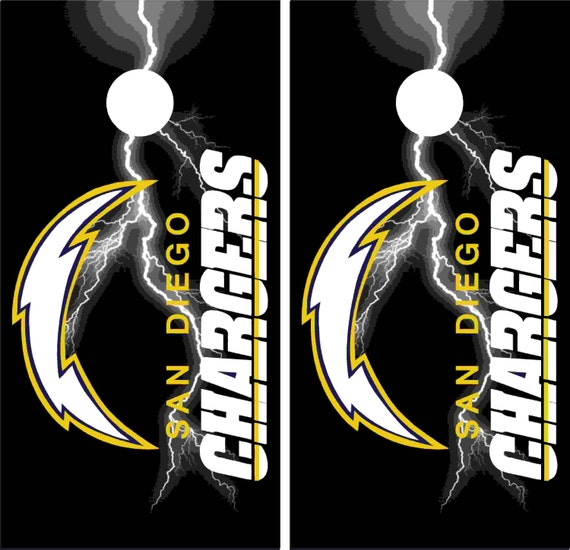 San Diego Chargers Car Decals: San Diego Chargers Corn Hole Decals 24x48