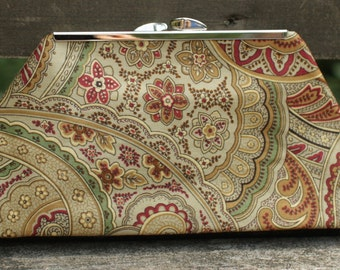 Cotton Clutch, Paisley Handbag