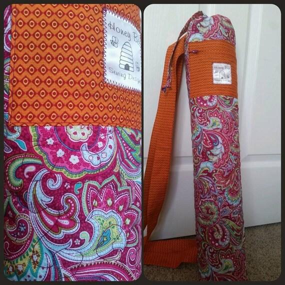 Items Similar To Quilted Cotton Yoga/pilates/piyo Mat Bag