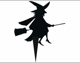 Halloween Witch6 Cake Topper From 50mm to 250mm  Plus 30mm Spike You choose colour, FREE SHIPPING