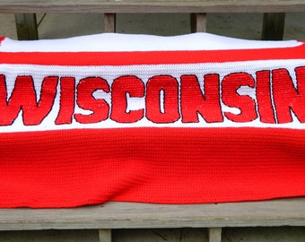 Crochet Blanket - Team Sports - College - Customized Large Afghan