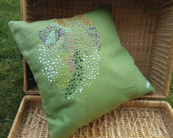 Handmade Decorative Pillow! Decorative Pillow with Hand Embroidery.