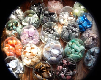 "13 GENUINE GEMSTONES Grab Bag! Random Selection from over 100 Available Options!! @1"" Tumbled and Rough Genuine Gemstones"