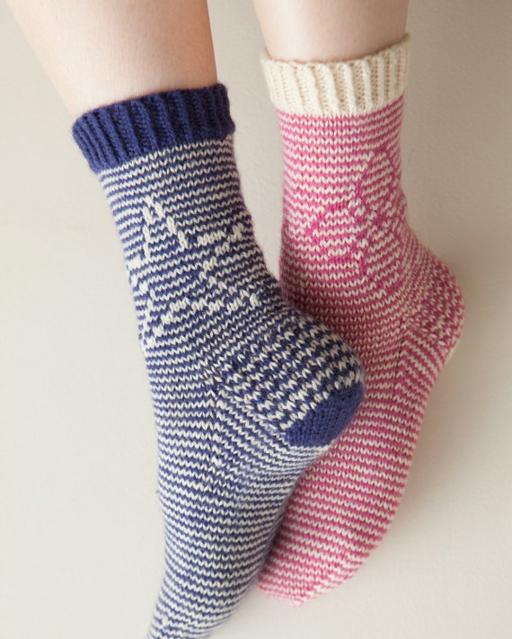 Flora and Stella Sock Knitting Pattern (Digital Download)