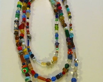 Random bead necklace