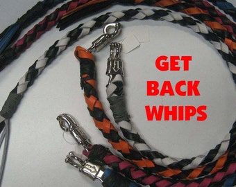 Custom Leather Get Back Whips with Quick Release