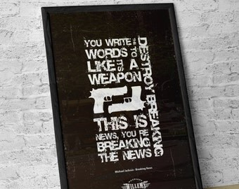 Michael Jackson Typographic Lyric Poster