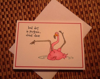 Hand Made Greeting Card: Funny Friendship Card