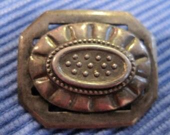 Sterling Silver Octagonal Brooch