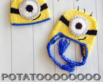 Despicable Me One-Eyed Minion Inspired Crochet Hat