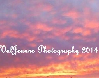 Nature Photography Evening Sky Sunset Fine Art Photograph Print