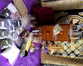 Wiccan Altar Kit Pagan Witch Altar Chest Wooden Cupboard  Apothecary Box Mystical Magick Spell
