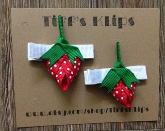 Strawberry Hair Clips (2)