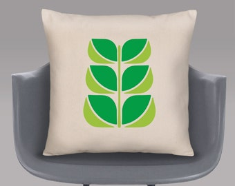 Graphic Leaves Cushion Cover