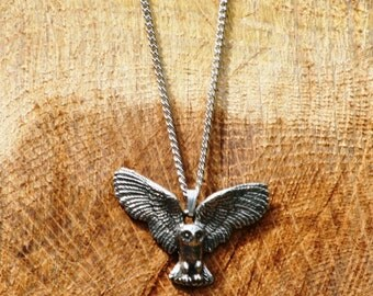 Owl Pewter Necklace & Pendant Ladies Jewelry Gift
