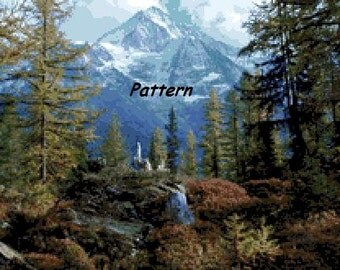 Mountain. Cross Stitch Pattern. PDF Files.