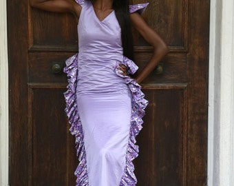 Sample African print gown
