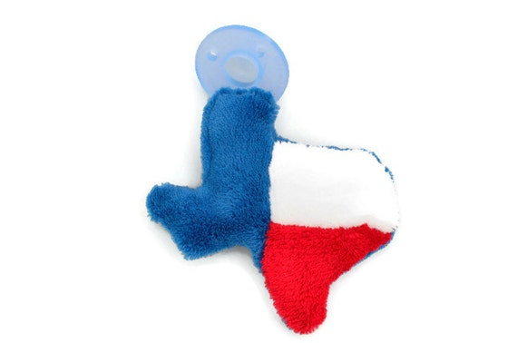 Texas Flag BinkyFriend (Soothie Pacifier Animal or Binky Leash) - Free Shipping on orders over 20 Dollars - FREESHIP20