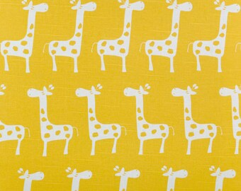 "GIRAFFE fabric-Corn Yellow Slub-54"" wide fabric by the yard-cotton/rayon blend yardage-Fast Shipping"