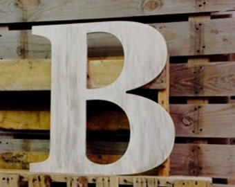 Large Wooden Letter | Guest Book Letter | Wooden Captial Letter B | Wooden Wall Art | Wooden Home Decor | Wedding Guestbook |